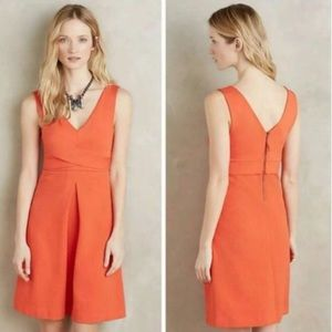 HD in Paris (Anthro) tangerine dress sz6